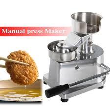 <b>Burger</b> press machine 100mm-130mm <b>manual hamburger</b> forming ...
