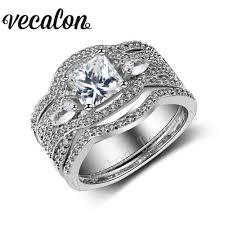 Женское винтажное обручальное <b>кольцо</b> Vecalon, <b>белое</b> ...