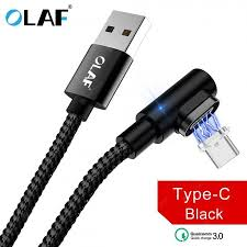 <b>OLAF</b> 5V <b>3A</b> Micro USB Type C Nyion Magnetic <b>Fast Charging</b> ...