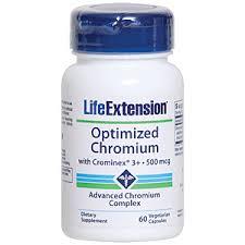 Life Extension - <b>Optimized Chromium with Crominex</b> 3+ 60 Capsules