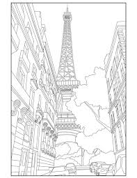 Small Picture Eiffel Tower Adult Coloring Page Coloring Paris par Wandertooth