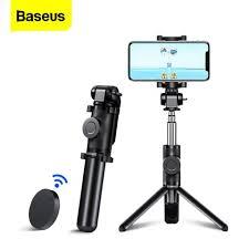 Buy Online Baseus Bluetooth Selfie Stick <b>Tripod</b> For iPhone 11 Pro ...