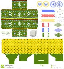 christmas gift box template stock vector image  christmas gift box template