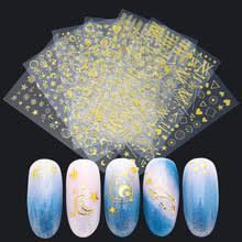 Золотые стикеры 3D <b>на ногти Nail</b> Art <b>наклейки для ногтей</b> ...