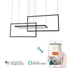 Wi-Fi Smart Modern <b>Led</b> Pendant Lights Island / Geometrical ...