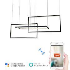 Wi-Fi Smart Modern <b>Led</b> Pendant Lights Island / Geometrical ...