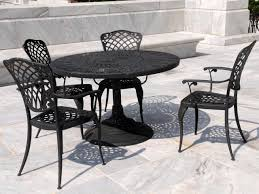 heavy duty patio furniture with black round metal patio table is also a kind of heavy black furniture covers