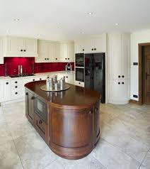 rounded kitchen island