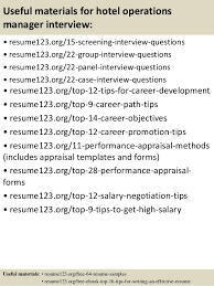 top  hotel operations manager resume samples       useful materials for hotel operations manager