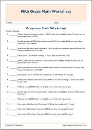 worksheets consumer math - Worksheets for Kids, Teachers & Free ...Printable Consumer Math Worksheet