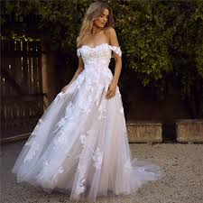 <b>LORIE Lace Wedding</b> Dresses 2020 Off the Shoulder Appliques A ...