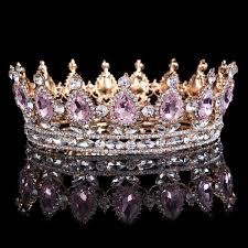 2019 Hot Sale <b>New</b> Fashion <b>Elegant Pink Crystal</b> Bridal Crown ...