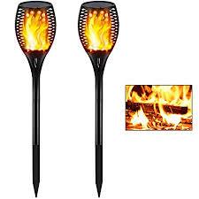 Gold Armour 2 Pack <b>Solar</b> Lights Upgraded - Flickering <b>Flames</b> ...