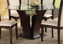 Glass Dining Room Tables Round Kitchen Photo Round Wooden Dining Table For Images Glass With