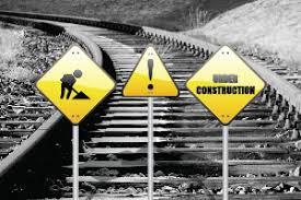 Image result for train tracks under construction