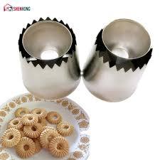 SHENHONG 2PCS/SET Pastry Tips Sulta Ne <b>Ring</b> Cookies Mold ...