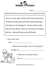 Reading Comprehension Worksheets - Free Printable Worksheets for ...Reading Comprehension Test Worksheet · Reading Comprehension Practice Worksheet