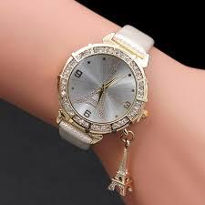 <b>Women Quartz</b> Wrist The Eiffel Tower Brand <b>Bling Women</b> Watch ...
