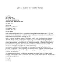 college student cover letter template cover letter college student