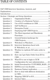 sap crm interview questions answers and explanations pdf 10 question 7 the most important and mandatory functions 12