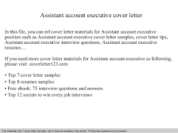 account executive cover letter examples