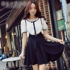 <b>dabuwawa summer</b> skirt 2017 <b>new</b> lady high waist black pleated ...