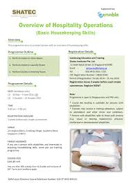 sg enable registration for basic housekeeping skills programme edm basic housekeeping skills