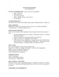 Teacher Resume Format Best Teachers Easy Within 25 Exciting How To