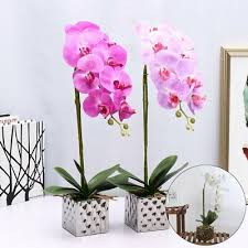 <b>50Cm Artificial</b> Plant Butterfly Orchid <b>Fake</b> Flower With Pot House ...
