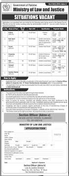 ministry of law and justice govt of jobs application of jobs application form