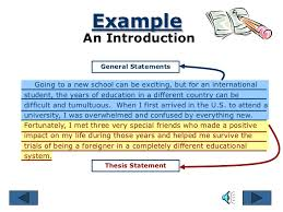 general statement essay exampleconclusion   example