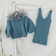 2019 Autumn Winter <b>Girls Fashion</b> Sweater <b>Clothes</b> Sets 1 7 Years ...