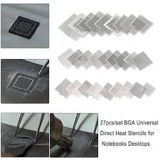 <b>27pcs/set BGA</b> Stencils Universal Direct Heated <b>BGA</b> Stencils for ...
