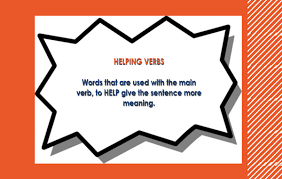 eLimu   Verbs eLimu The main verb has the real meaning but requires    help    from the helping verb