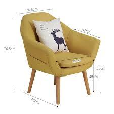 Coffee Leisure Wooden <b>Single</b> Small <b>Nordic Lazy Sofa</b> Apartment ...