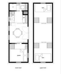 x Tiny House plan   a bedroom on main floor    Living Small    tiny house floor plan