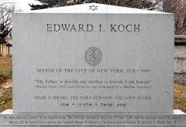 Koch's epitaph: 'My father is Jewish, my mother is Jewish, I am ... via Relatably.com