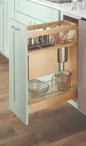 kitchen items store: a base pull out with knife and utensil organization helps free up counter space and is a safe place to store knives and other sharp kitchen items