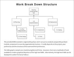 work breakdown structure template   free  amp  premium templatesproject breakdowntemplate free download