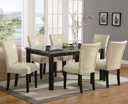 Fabric Dining Room Chairs Uk Dining Table Astonishing Marble Dining Table And Leather Chairs