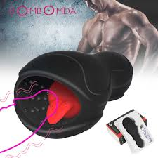 Tongue <b>Vibrating Glans Stamina Trainer</b> Vibrator Penis Massager ...