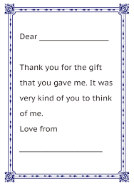 thank you letter from kids christmas fun letter thank you letter
