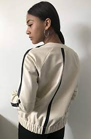 Women Bomber Jacket coat made of natural <b>leather</b> | AccuWeather ...