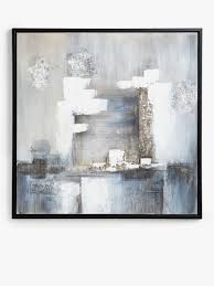 Tempest - <b>Hand</b>-<b>Painted</b> Monochrome <b>Abstract</b> Framed Canvas ...