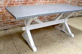 zinc dining tables zinc top dining table farmhouse dining tables