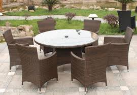 patio table and 6 chairs: awesome all weather wicker outdoor furniture sets rattan melbourne seat with regard to wicker outdoor dining table popular