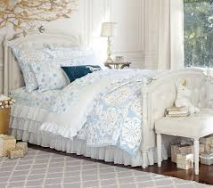 Pottery Barn Girls Bedroom Tufted Bed