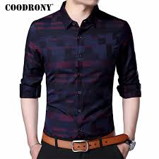 <b>COODRONY Men Shirt Mens</b> Business Casual <b>Shirts</b> 2019 New ...