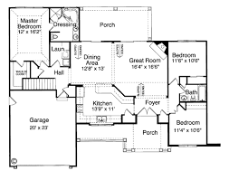 House Plan at FamilyHomePlans comBungalow Country House Plan Level One