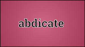 「Abdicate」の画像検索結果